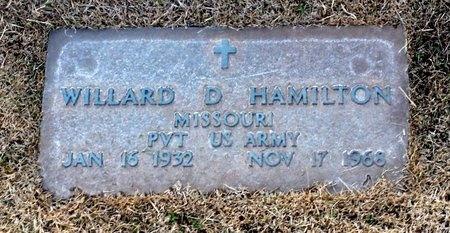 HAMILTON, WILLARD D VETERAN - Pike County, Missouri | WILLARD D VETERAN HAMILTON - Missouri Gravestone Photos