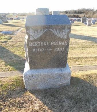 HOLMAN, BERTHA LOUELLA - Pike County, Missouri   BERTHA LOUELLA HOLMAN - Missouri Gravestone Photos