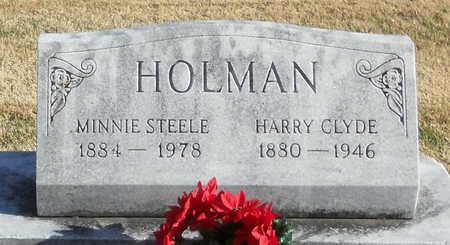 MEYER HOLMAN, MINNIE STEELE - Pike County, Missouri | MINNIE STEELE MEYER HOLMAN - Missouri Gravestone Photos
