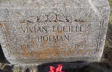 HOLMAN, VIVIAN LUCILLE - Pike County, Missouri | VIVIAN LUCILLE HOLMAN - Missouri Gravestone Photos