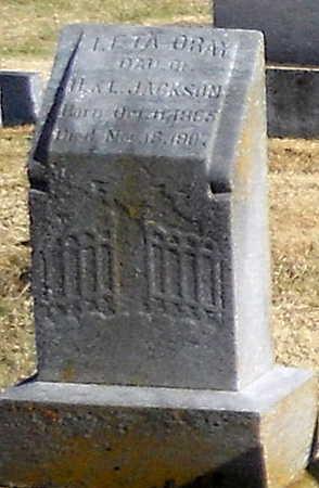 JACKSON, LETA ORAY - Pike County, Missouri | LETA ORAY JACKSON - Missouri Gravestone Photos