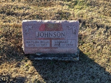 JOHNSON, MATILDA BELLE - Pike County, Missouri | MATILDA BELLE JOHNSON - Missouri Gravestone Photos