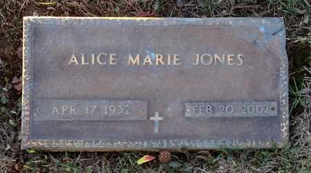 JONES, ALICE MARIE - Pike County, Missouri | ALICE MARIE JONES - Missouri Gravestone Photos
