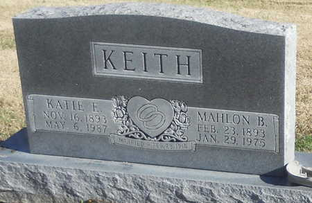 KEITH, KATIE E - Pike County, Missouri | KATIE E KEITH - Missouri Gravestone Photos