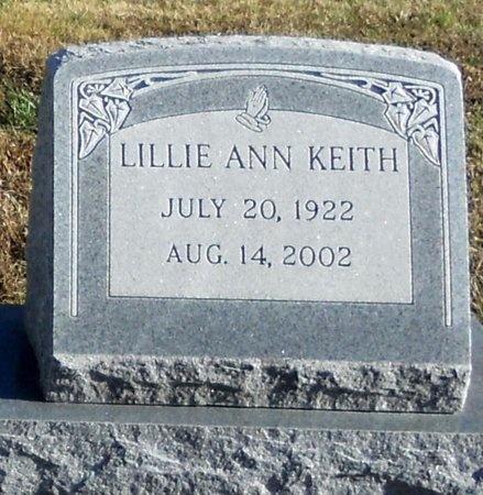 KEITH, LILLIE ANN - Pike County, Missouri | LILLIE ANN KEITH - Missouri Gravestone Photos