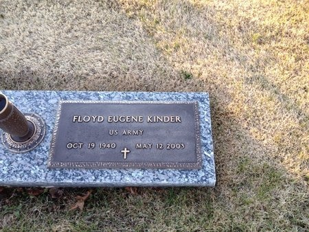 KINDER (VETERAN), FLOYD EUGENE (NEW) - Pike County, Missouri | FLOYD EUGENE (NEW) KINDER (VETERAN) - Missouri Gravestone Photos