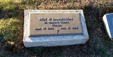 LAMBERSON (VETERAN KOR), ROY W (NEW) - Pike County, Missouri   ROY W (NEW) LAMBERSON (VETERAN KOR) - Missouri Gravestone Photos
