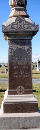 LEMON, LUTHER LUCAS - Pike County, Missouri | LUTHER LUCAS LEMON - Missouri Gravestone Photos
