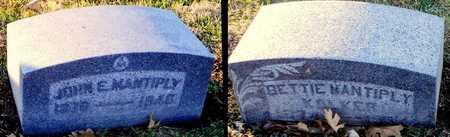 MANTIPLY KOLKER, BETTIE - Pike County, Missouri | BETTIE MANTIPLY KOLKER - Missouri Gravestone Photos