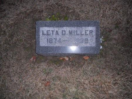 MILLER, LETA D - Pike County, Missouri | LETA D MILLER - Missouri Gravestone Photos