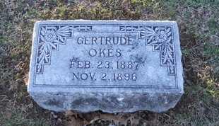 OKES, GERTRUDE - Pike County, Missouri | GERTRUDE OKES - Missouri Gravestone Photos