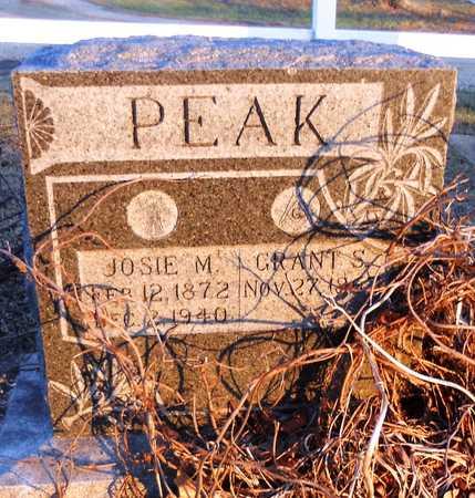 BROWN PEAK, JOSIE M - Pike County, Missouri | JOSIE M BROWN PEAK - Missouri Gravestone Photos