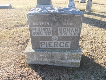 PIERCE, NANCY PHILINDA - Pike County, Missouri | NANCY PHILINDA PIERCE - Missouri Gravestone Photos