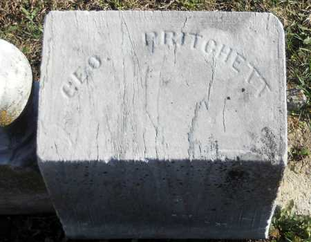 PRITCHETT, GEORGE - Pike County, Missouri | GEORGE PRITCHETT - Missouri Gravestone Photos
