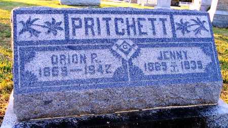 "PRITCHETT, VIRGINIA ""JENNY"" - Pike County, Missouri | VIRGINIA ""JENNY"" PRITCHETT - Missouri Gravestone Photos"