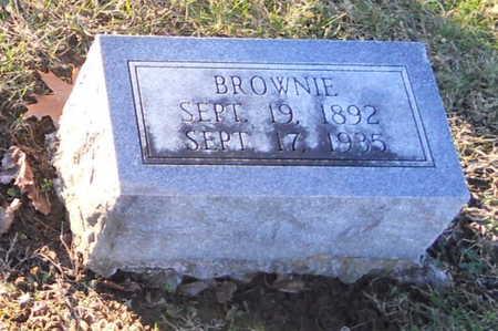 "RICHARDSON, CURTIS STRATTON ""BROWNIE"" - Pike County, Missouri | CURTIS STRATTON ""BROWNIE"" RICHARDSON - Missouri Gravestone Photos"