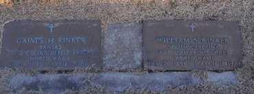 RINKER, WILLIAM S VETERAN - Pike County, Missouri | WILLIAM S VETERAN RINKER - Missouri Gravestone Photos
