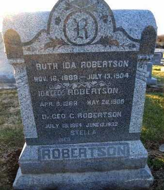 ROBERTSON, IDA - Pike County, Missouri | IDA ROBERTSON - Missouri Gravestone Photos