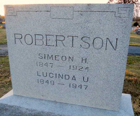 UNSELL ROBERTSON, LUCINDA - Pike County, Missouri | LUCINDA UNSELL ROBERTSON - Missouri Gravestone Photos