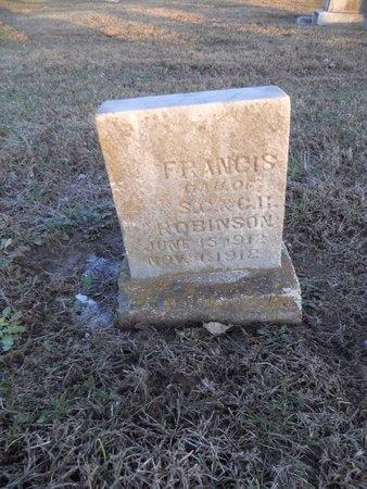 ROBINSON, FRANCIS - Pike County, Missouri   FRANCIS ROBINSON - Missouri Gravestone Photos