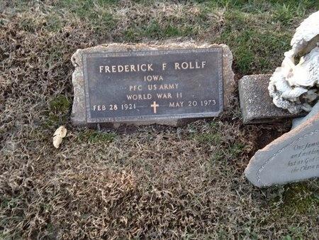 ROLLF (VETERAN WWII), FREDERICK F (NEW) - Pike County, Missouri | FREDERICK F (NEW) ROLLF (VETERAN WWII) - Missouri Gravestone Photos