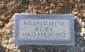 RUBY, MILDRED IRENE - Pike County, Missouri | MILDRED IRENE RUBY - Missouri Gravestone Photos