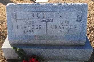 RUFFIN, CRAYTON DERAY - Pike County, Missouri | CRAYTON DERAY RUFFIN - Missouri Gravestone Photos