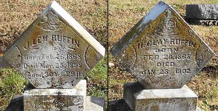 RUFFIN, J LEMEN - Pike County, Missouri | J LEMEN RUFFIN - Missouri Gravestone Photos