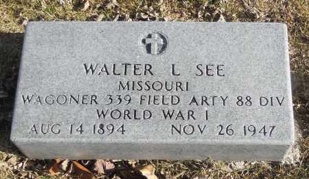 SEE, WALTER L VETERAN - Pike County, Missouri | WALTER L VETERAN SEE - Missouri Gravestone Photos