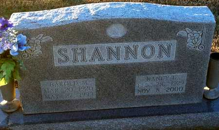 SHANNON, HAROLD M - Pike County, Missouri | HAROLD M SHANNON - Missouri Gravestone Photos