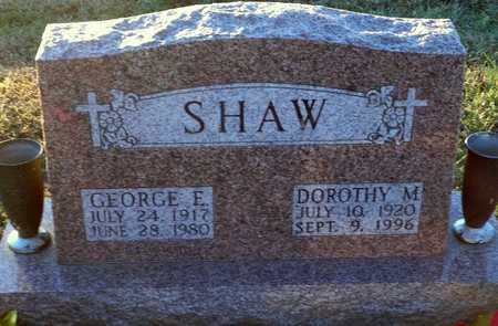 SHAW, GEORGE E - Pike County, Missouri | GEORGE E SHAW - Missouri Gravestone Photos
