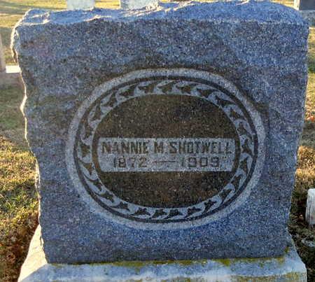 SHOTWELL, NANNIE M - Pike County, Missouri | NANNIE M SHOTWELL - Missouri Gravestone Photos