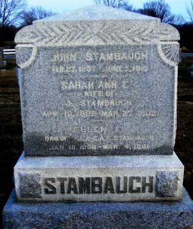 STAMBAUGH, SARAH ANN E - Pike County, Missouri | SARAH ANN E STAMBAUGH - Missouri Gravestone Photos