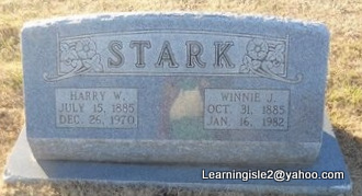 STARK, WINNIE J - Pike County, Missouri   WINNIE J STARK - Missouri Gravestone Photos