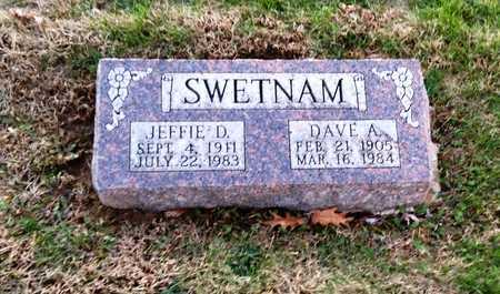 SWETNAM, JEFFIE D - Pike County, Missouri | JEFFIE D SWETNAM - Missouri Gravestone Photos