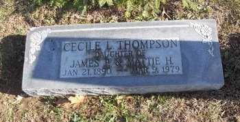 THOMPSON, CECILE L - Pike County, Missouri | CECILE L THOMPSON - Missouri Gravestone Photos