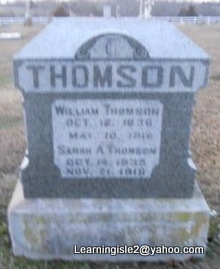 THOMSON, WILLIAM - Pike County, Missouri | WILLIAM THOMSON - Missouri Gravestone Photos