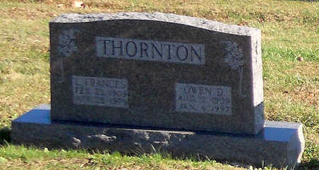 THORNTON, OWEN D - Pike County, Missouri | OWEN D THORNTON - Missouri Gravestone Photos