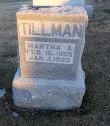TILLMAN, MARTHA ANN - Pike County, Missouri | MARTHA ANN TILLMAN - Missouri Gravestone Photos