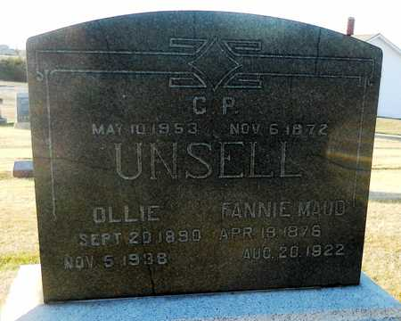 STEEL UNSELL, FANNIE MAUD - Pike County, Missouri | FANNIE MAUD STEEL UNSELL - Missouri Gravestone Photos