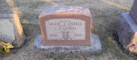 UNSELL, SALLIE J - Pike County, Missouri   SALLIE J UNSELL - Missouri Gravestone Photos