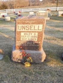 UNSELL, WILEY B - Pike County, Missouri | WILEY B UNSELL - Missouri Gravestone Photos