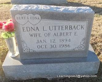 UTTERBACK, EDNA LILA - Pike County, Missouri | EDNA LILA UTTERBACK - Missouri Gravestone Photos