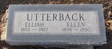 PETTIJOHN UTTERBACK, NANCY ELLEN - Pike County, Missouri | NANCY ELLEN PETTIJOHN UTTERBACK - Missouri Gravestone Photos