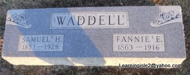 WADDELL, FANNIE E - Pike County, Missouri | FANNIE E WADDELL - Missouri Gravestone Photos