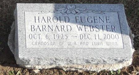 WEBSTER, HAROLD EUGENE BARNARD - Pike County, Missouri   HAROLD EUGENE BARNARD WEBSTER - Missouri Gravestone Photos