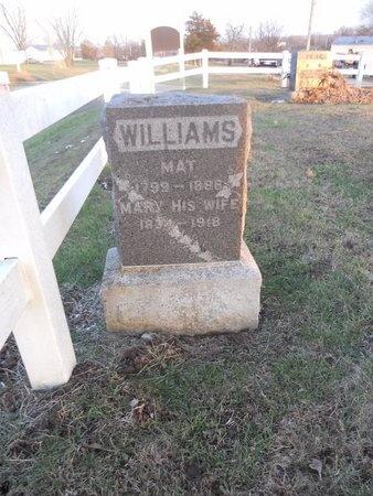 WILLIAMS, MAT - Pike County, Missouri   MAT WILLIAMS - Missouri Gravestone Photos