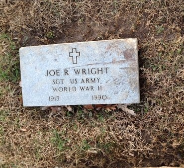 WRIGHT (VETERAN WWII), JOE R (NEW) - Pike County, Missouri | JOE R (NEW) WRIGHT (VETERAN WWII) - Missouri Gravestone Photos