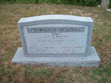 CROWNOVER, ELIZA ANN - Reynolds County, Missouri | ELIZA ANN CROWNOVER - Missouri Gravestone Photos