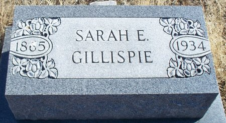 GILLISPIE, SARAH E - Scotland County, Missouri | SARAH E GILLISPIE - Missouri Gravestone Photos
